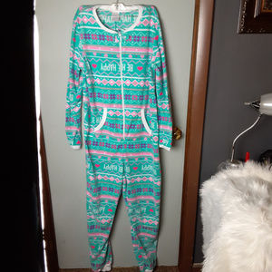 Secret Treasures Womens One Piece Open Foot Pajama